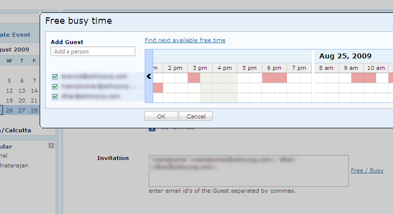 New in Zoho Calendar : Print View and Free/Busy « Zoho Blog