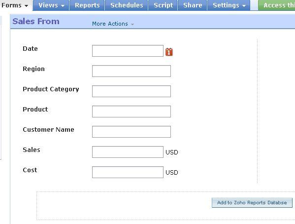 Explore Zoho Reports Series: Part III – Form Interface using Zoho ...