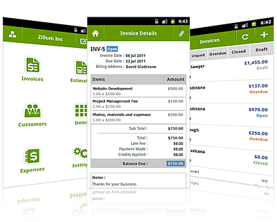 Zoho Loves Android Announcing Our First Android App For Zoho - Offline invoice software