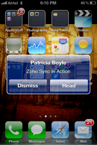 ZSync Automatic Notification