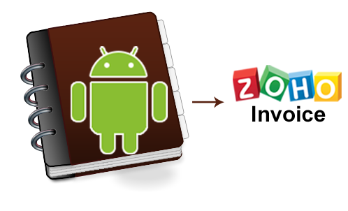 Add contacts to Zoho Invoice android app