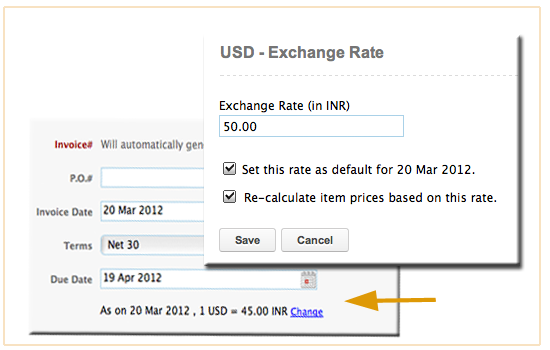 Fresh Updates On Exchange Rate In Zoho Invoice And Zoho Books Zoho - Invoice to go prices