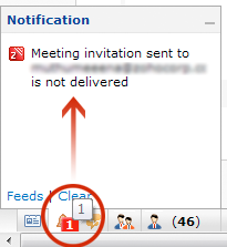 Invitation Mail Failure Notification