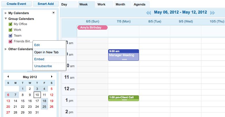 how to use zoho calendar