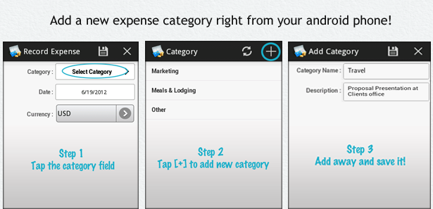 Zoho Invoice Android App Update: Expense Categories