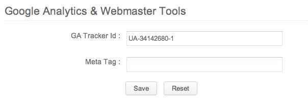 GA Tracker ID on Zoho Sites
