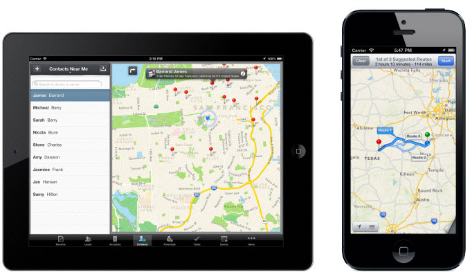 Find Nearby Customers on the go