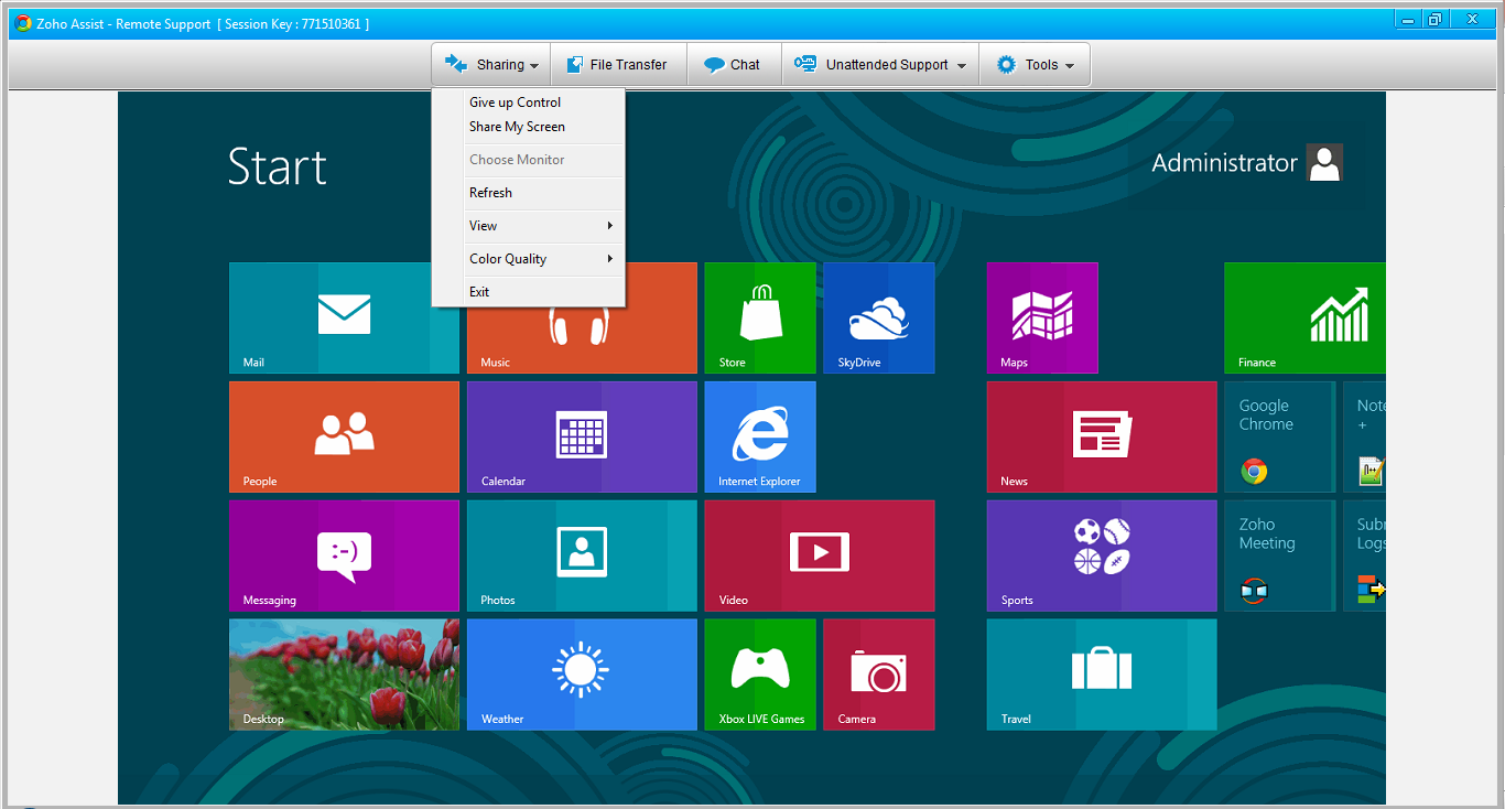 windows8-zohoassist