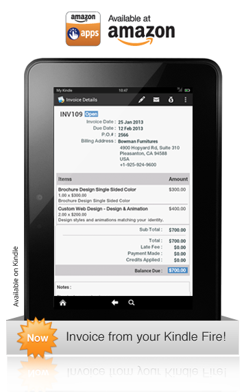 Zoho Invoice Kindle Fire App