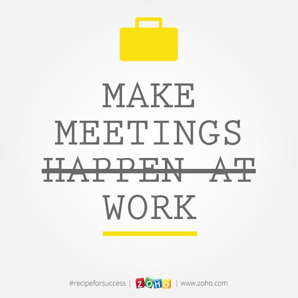 Meetings « Zoho Blog