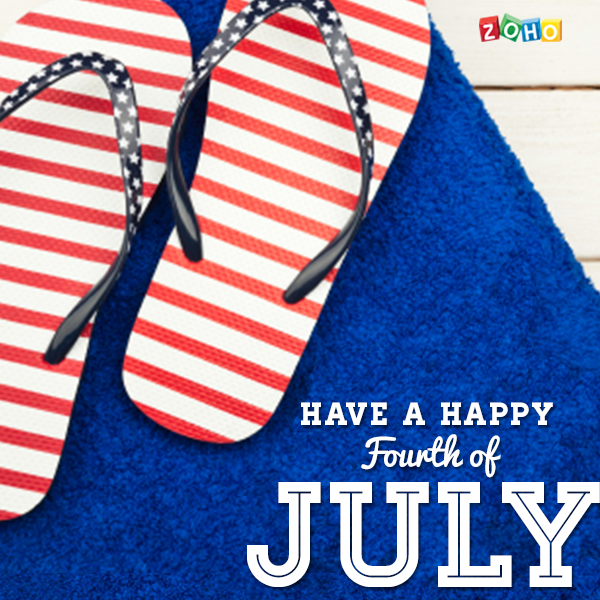 Happy 4th July from Zoho!