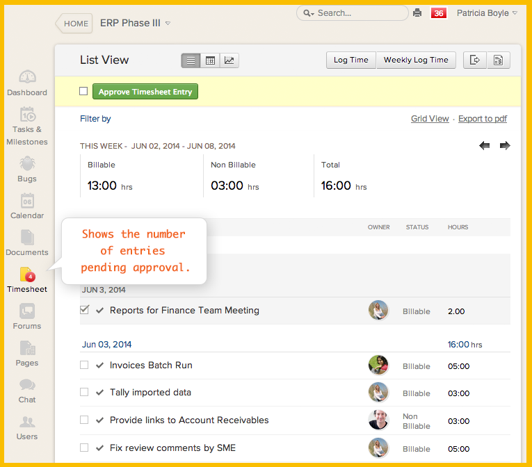 Zoho-Projects-timesheet-approval