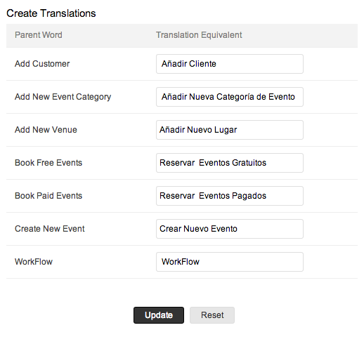 Customize Translation with Zoho Creator