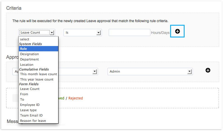 Zoho People Multiple Criteria Simple Approvals Zoho Blog – Example of Leave Form