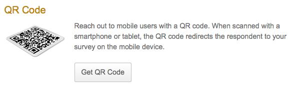 QR code for mobile surveys