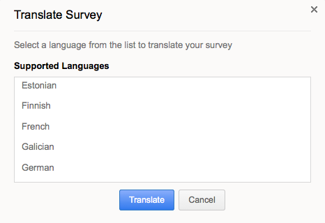 create multilingual surveys