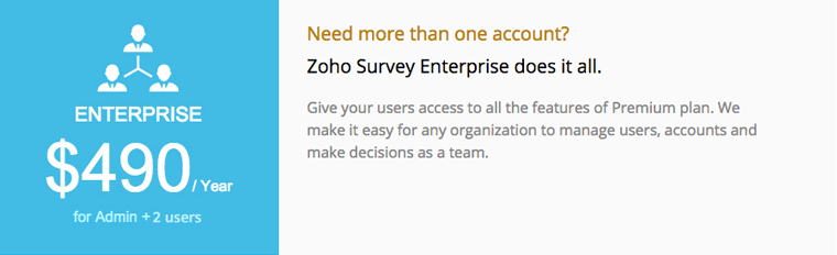 Zoho Survey Enterprise