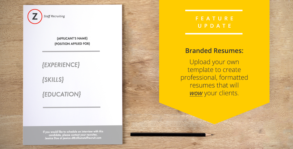 Introducing Template Support for Formatted Resumes « Zoho Blog