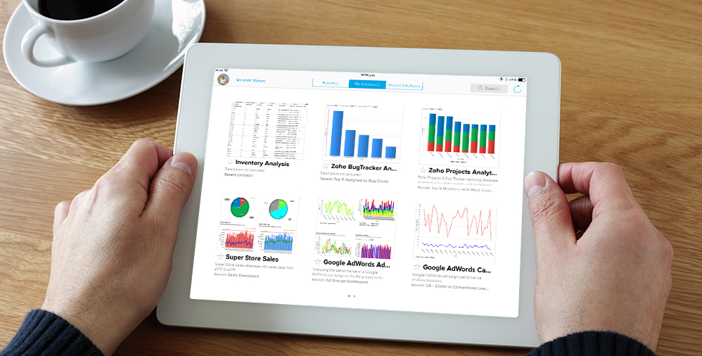 Announcing The IPad App For Zoho Reports Zoho Blog