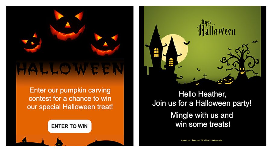 Halloween templates available in Zoho Campaigns