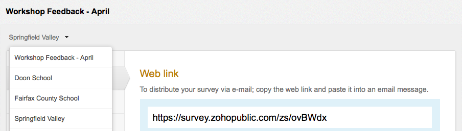 Zoho Survey Multi Collector