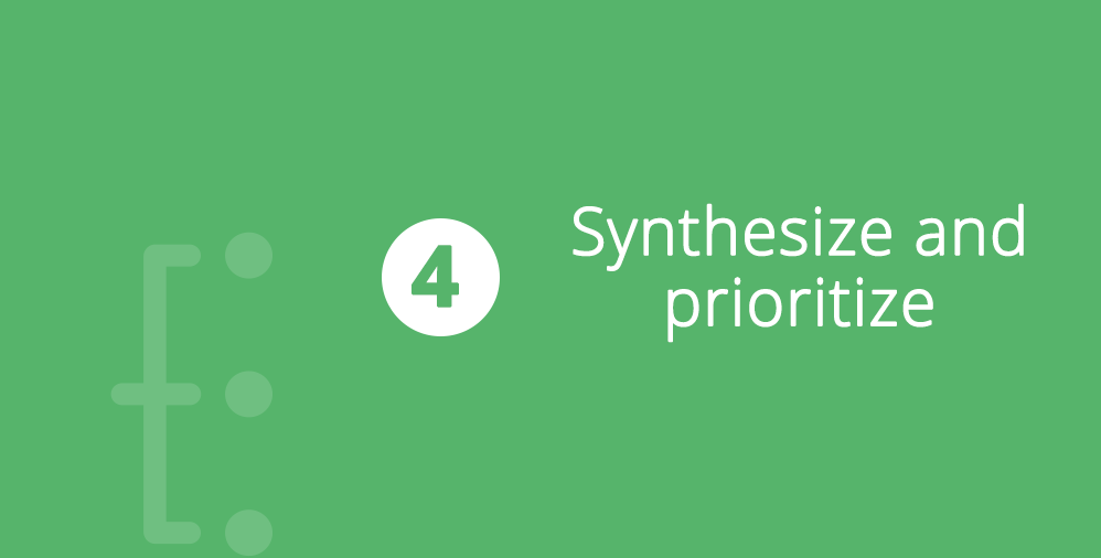 Synthesize and Prioritize