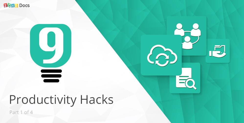 productivity-tips-from-zoho docs