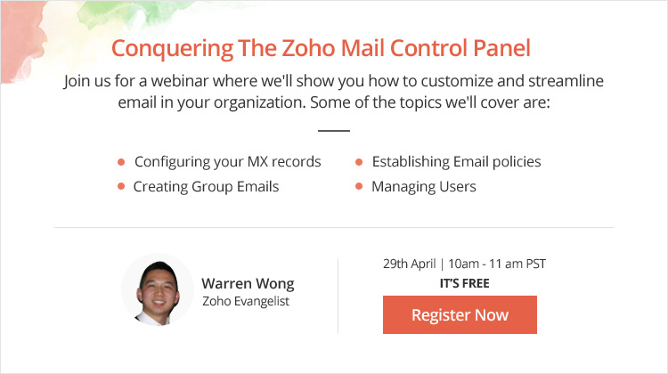 Conquering the Zoho Mail Control Panel – Join the Webinar