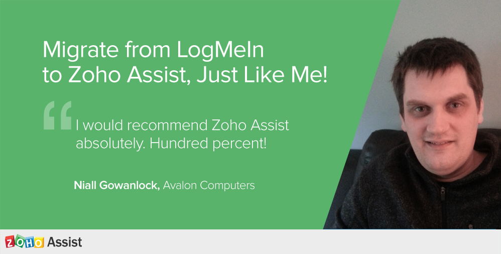 Migrate from LogMeIn to Zoho Assist!