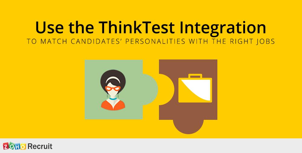 Zoho Recruit and ThinkTest integration blog image