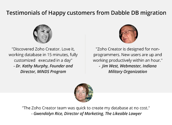 Testimonials from happy customers