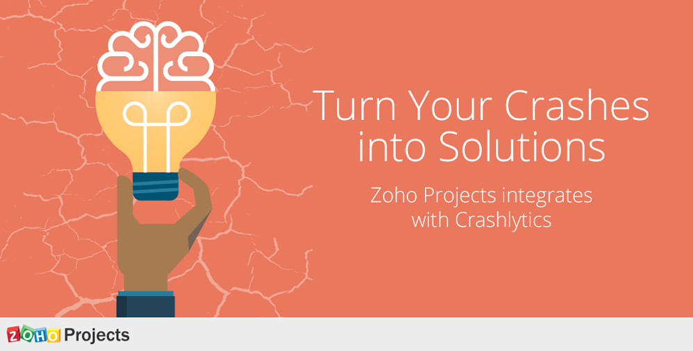 Turn your crashes into solutions— Zoho Projects integrates with Crashlytics