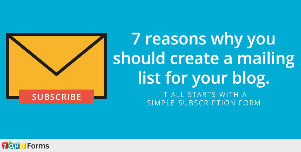 7 reasons for a mailing list
