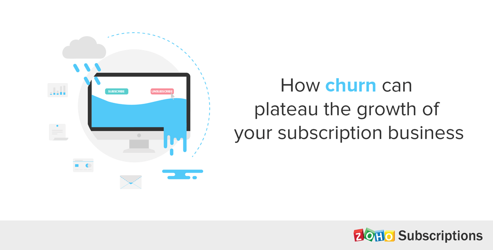 how churn can plateau the growth of your subscription business