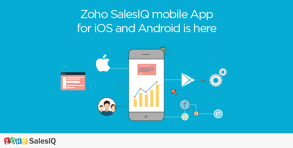 Aplicativo móvel Zoho SalesIQ para iOS e Android