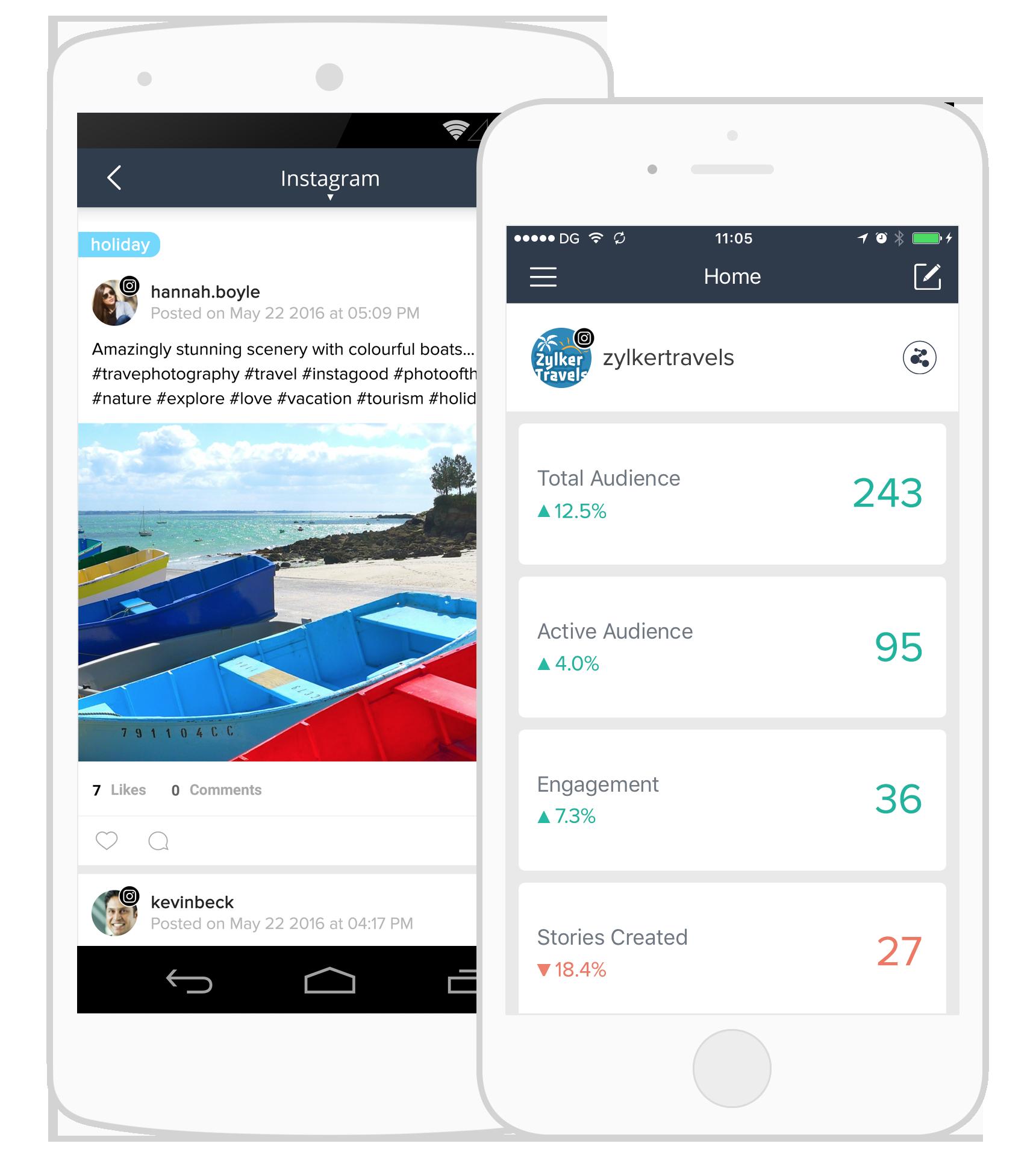 application mobile zoho social