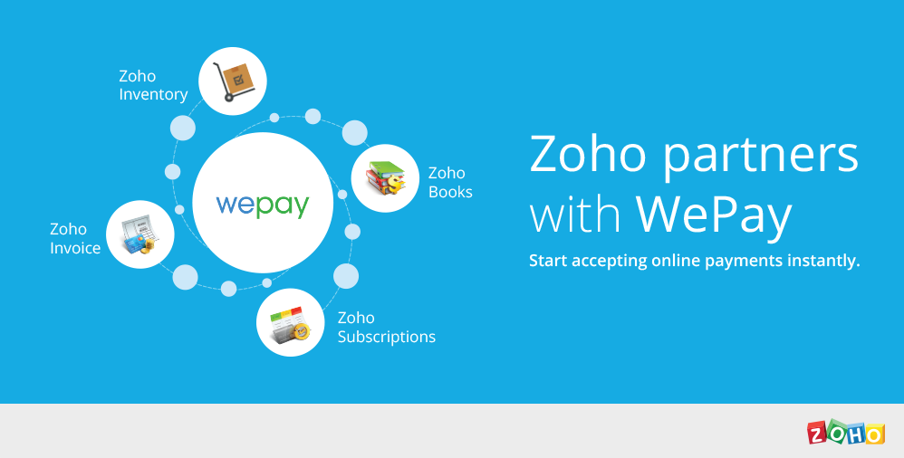 Zoho integrates with WePay