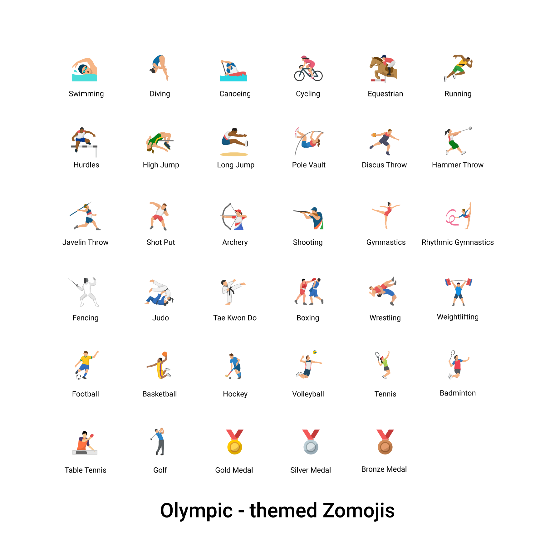 Olympic-Themed-Zomojis