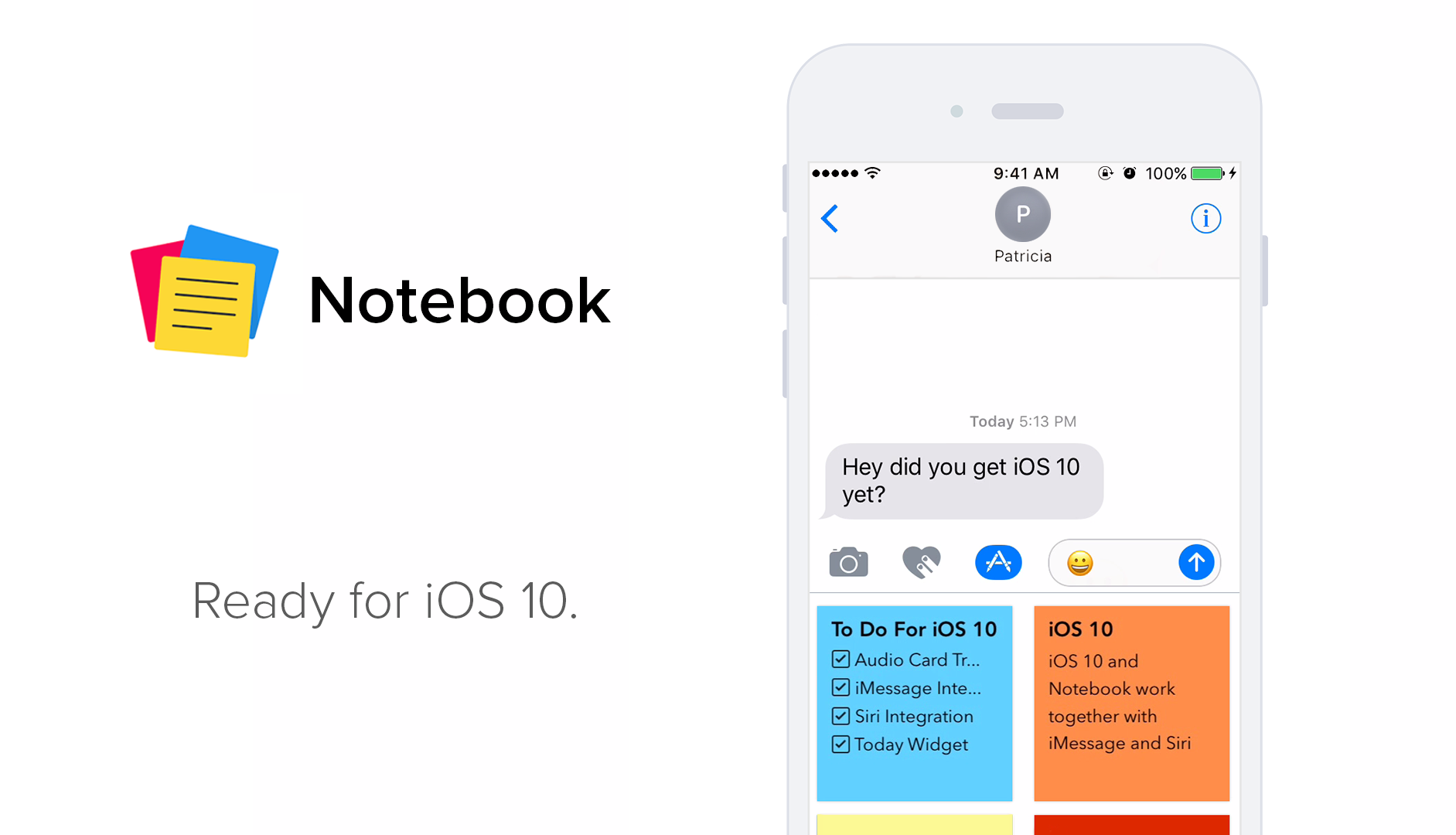 Notebook Ready for iOS 10