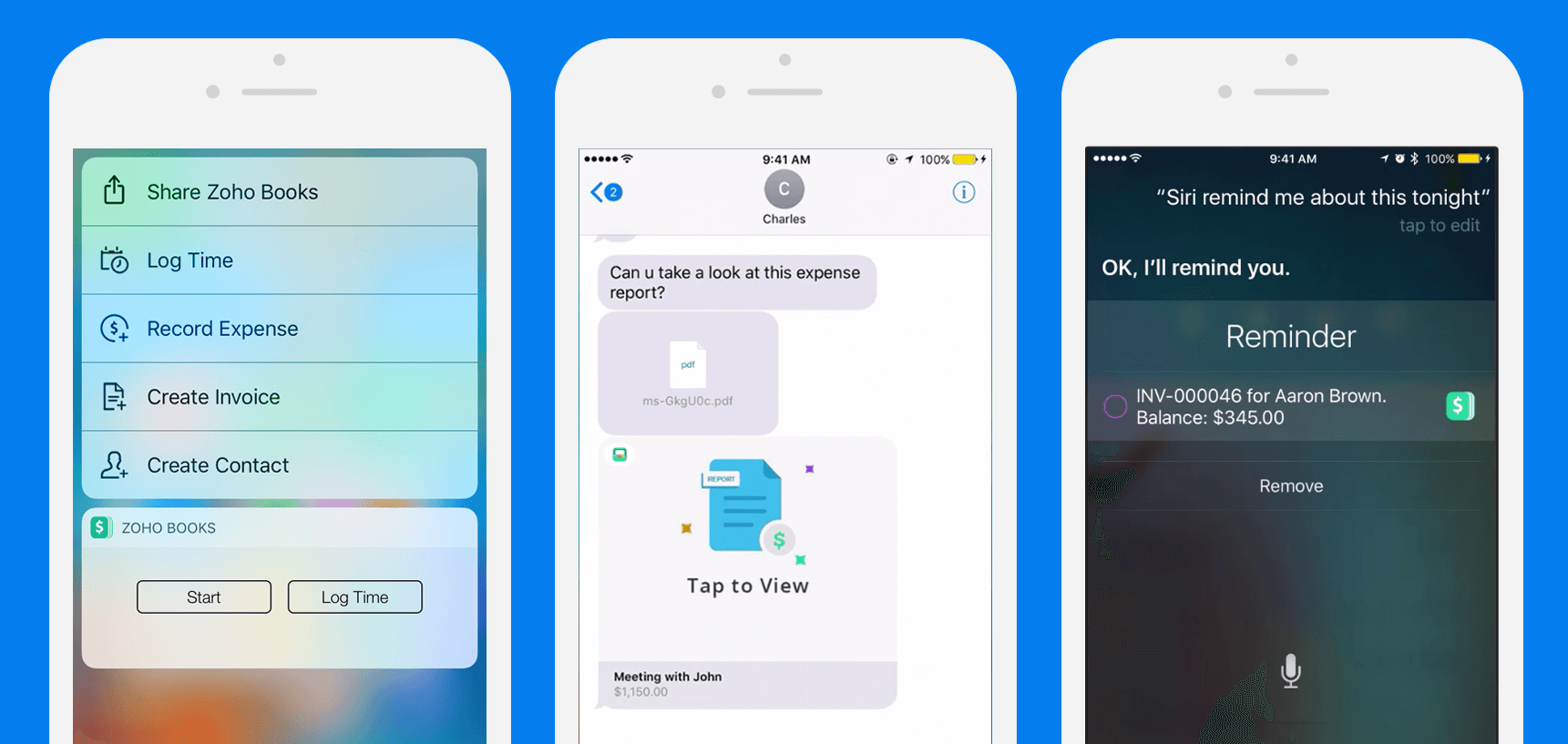 Finance, meet iMessage. Payments, approvals, and reminders, all through iOS 10.