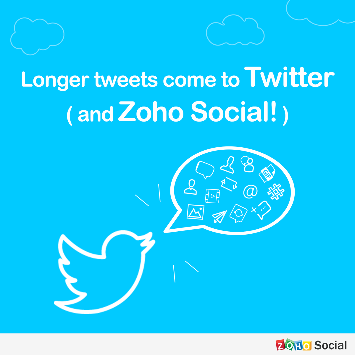 Do More With Longer Tweets: Now On Twitter (and Zoho Social!)