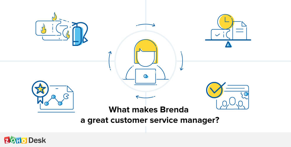 what makes brenda a great customer service manager zoho blog