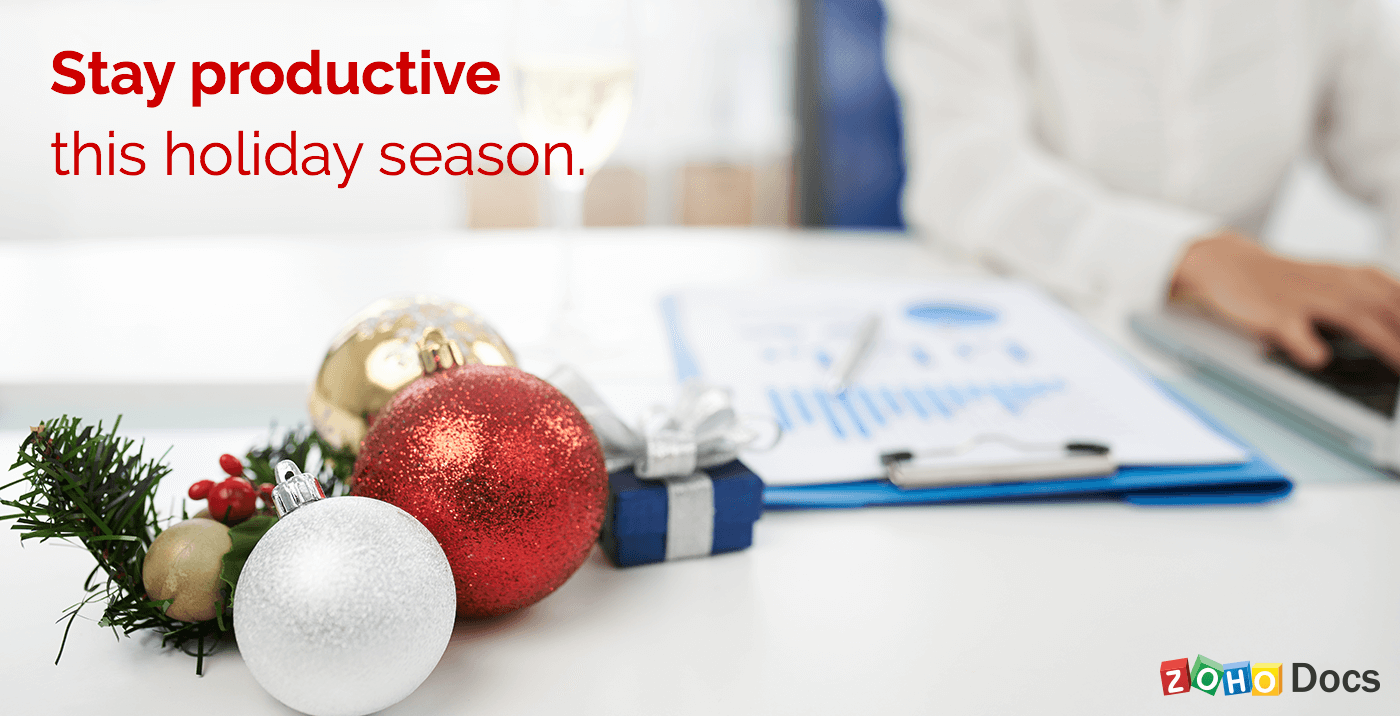 Eight ways to stay productive through the holiday season