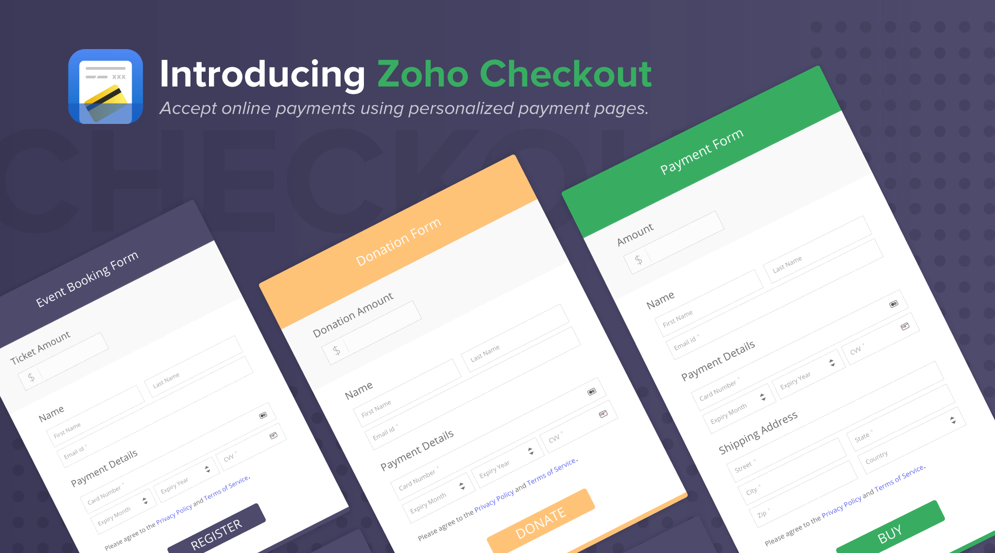 Introducing Zoho Checkout: Making online payments painless.