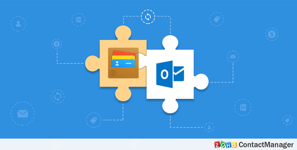 Zoho ContactManager integrates with Outlook to bring seamless access to contacts and emails