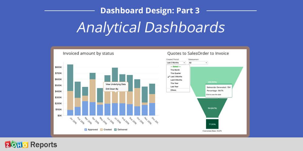 Dashboard design – Part 3: Analytical dashboards « Zoho Blog