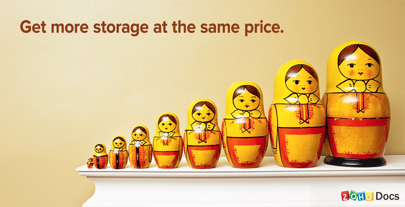 get more storage at the same price
