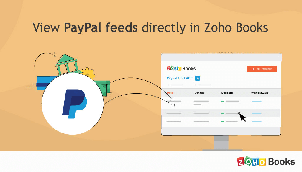 Get PayPal feeds in Zoho Books