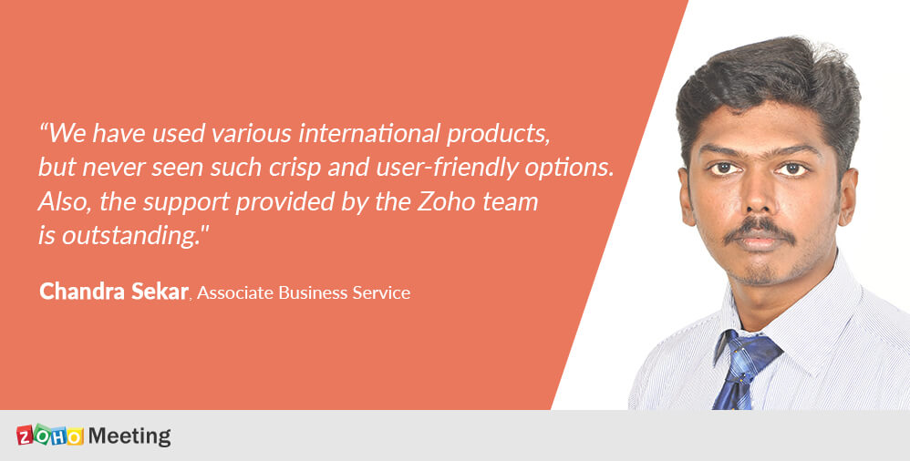How Zoho Meeting enhanced business collaboration for a payroll service company