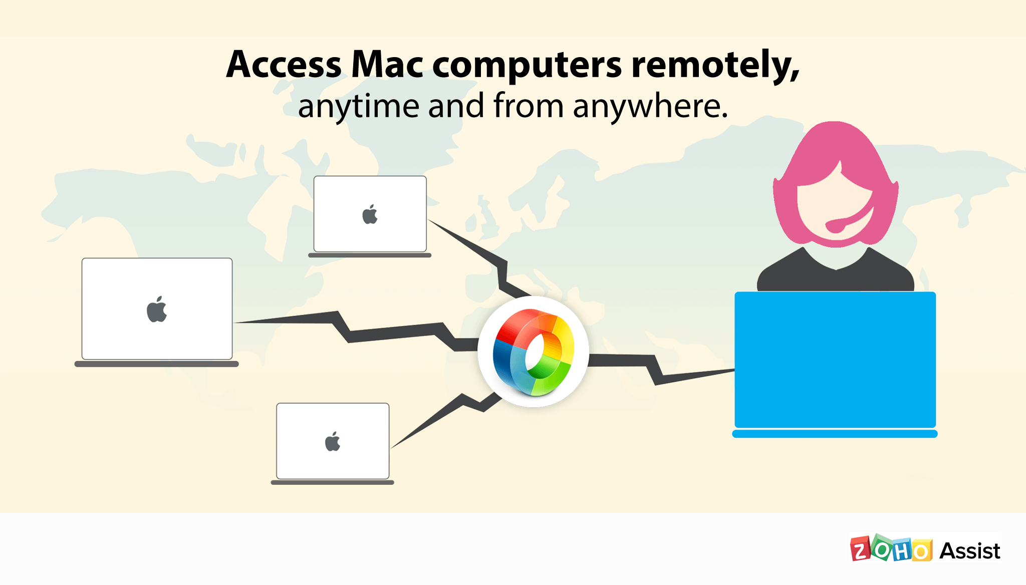 Access Mac computers remotely, anytime and from anywhere.